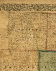 Barrington, Illinois 1861 Old Town Map Custom Print - Cook Co.