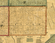 Bloom, Illinois 1861 Old Town Map Custom Print - Cook Co.
