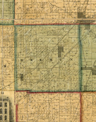 Bremen, Illinois 1861 Old Town Map Custom Print - Cook Co.