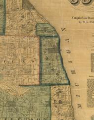 Evanston, Illinois 1861 Old Town Map Custom Print - Cook Co.
