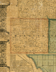 Hanover, Illinois 1861 Old Town Map Custom Print - Cook Co.