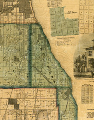 Hyde Park, Illinois 1861 Old Town Map Custom Print - Cook Co.