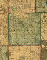 Jefferson, Illinois 1861 Old Town Map Custom Print - Cook Co.