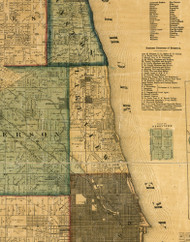 Lake View, Illinois 1861 Old Town Map Custom Print - Cook Co.