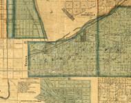 Lemont, Illinois 1861 Old Town Map Custom Print - Cook Co.