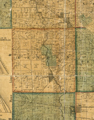 Leyden, Illinois 1861 Old Town Map Custom Print - Cook Co.