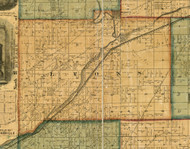 Lyons, Illinois 1861 Old Town Map Custom Print - Cook Co.