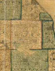 Niles, Illinois 1861 Old Town Map Custom Print - Cook Co.