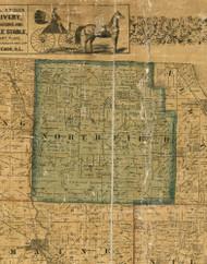 Northfield, Illinois 1861 Old Town Map Custom Print - Cook Co.