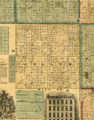 Orland, Illinois 1861 Old Town Map Custom Print - Cook Co.