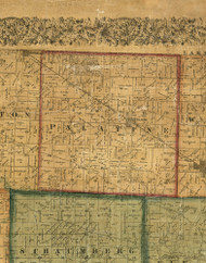 Palatine, Illinois 1861 Old Town Map Custom Print - Cook Co.