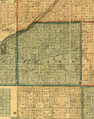 Palos, Illinois 1861 Old Town Map Custom Print - Cook Co.