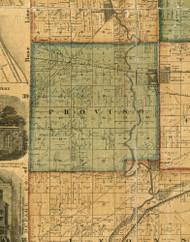 Proviso, Illinois 1861 Old Town Map Custom Print - Cook Co.