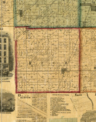 Rich, Illinois 1861 Old Town Map Custom Print - Cook Co.