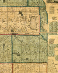 Thornton, Illinois 1861 Old Town Map Custom Print - Cook Co.