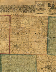 Wheeling, Illinois 1861 Old Town Map Custom Print - Cook Co.