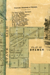 Bremen Village - Cook Co., Illinois 1861 Old Town Map Custom Print - Cook Co.