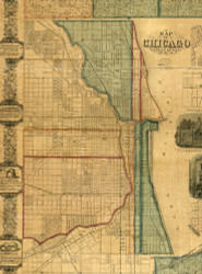 Chicago Village - Cook Co., Illinois 1861 Old Town Map Custom Print - Cook Co.