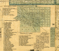 Jefferson Village - Cook Co., Illinois 1861 Old Town Map Custom Print - Cook Co.