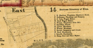 Niles Village - Cook Co., Illinois 1861 Old Town Map Custom Print - Cook Co.