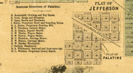 Palatine Village - Cook Co., Illinois 1861 Old Town Map Custom Print - Cook Co.