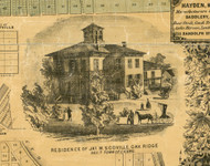 Res. of Jas. W. Scoville - Cook Co., Illinois 1861 Old Town Map Custom Print - Cook Co.