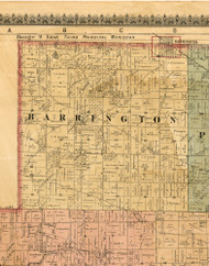 Barrington, Illinois 1886 Old Town Map Custom Print - Cook Co.