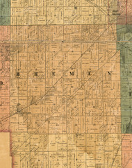 Bremen, Illinois 1886 Old Town Map Custom Print - Cook Co.