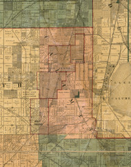 Calumet, Illinois 1886 Old Town Map Custom Print - Cook Co.