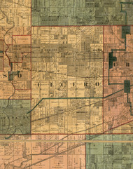 Cicero, Illinois 1886 Old Town Map Custom Print - Cook Co.