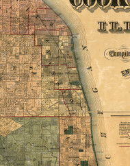 Evanston, Illinois 1886 Old Town Map Custom Print - Cook Co.