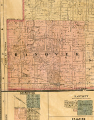 Hanover, Illinois 1886 Old Town Map Custom Print - Cook Co.