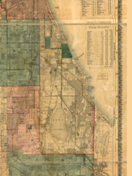 Hyde Park, Illinois 1886 Old Town Map Custom Print - Cook Co.