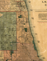 Lake View, Illinois 1886 Old Town Map Custom Print - Cook Co.