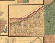 Lemont, Illinois 1886 Old Town Map Custom Print - Cook Co.