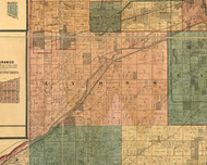 Lyons, Illinois 1886 Old Town Map Custom Print - Cook Co.