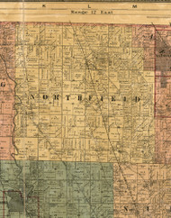 Northfield, Illinois 1886 Old Town Map Custom Print - Cook Co.