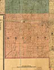 Orland, Illinois 1886 Old Town Map Custom Print - Cook Co.