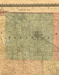 Palatine, Illinois 1886 Old Town Map Custom Print - Cook Co.