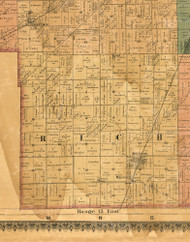 Rich, Illinois 1886 Old Town Map Custom Print - Cook Co.
