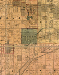 Riverside, Illinois 1886 Old Town Map Custom Print - Cook Co.