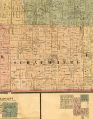 Schaumburg, Illinois 1886 Old Town Map Custom Print - Cook Co.