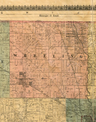 Wheeling, Illinois 1886 Old Town Map Custom Print - Cook Co.