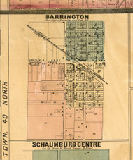 Barrington Village - Cook Co., Illinois 1886 Old Town Map Custom Print - Cook Co.