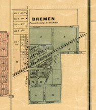 Brement Village - Cook Co., Illinois 1886 Old Town Map Custom Print - Cook Co.