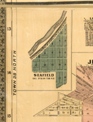 Seafield - Cook Co., Illinois 1886 Old Town Map Custom Print - Cook Co.