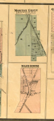 Morton Grove and Niles Centre - Cook Co., Illinois 1886 Old Town Map Custom Print - Cook Co.