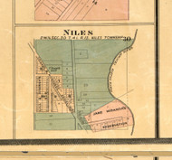 Niles Village - Cook Co., Illinois 1886 Old Town Map Custom Print - Cook Co.