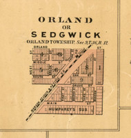Orland, or Sedgwick - Cook Co., Illinois 1886 Old Town Map Custom Print - Cook Co.