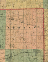 Addison, Illinois 1890 Old Town Map Custom Print - Cook Dupage Cos.